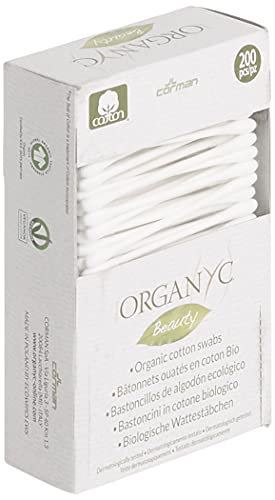 Organyc 100% Certified Organic Cotton Swabs - No Man-Made Materials, 200 Count