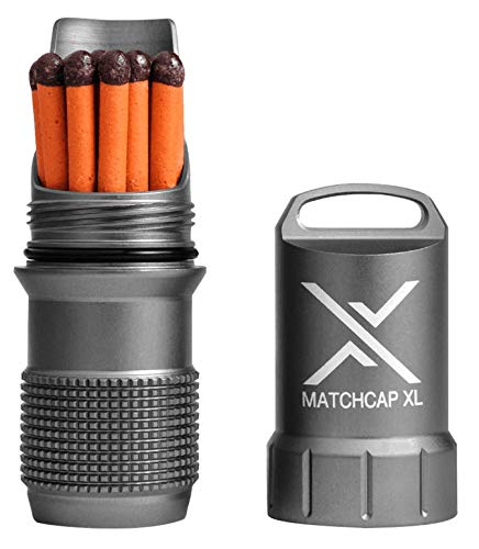 Exotac MATCHCAP XL Waterproof Match Case, Gunmetal