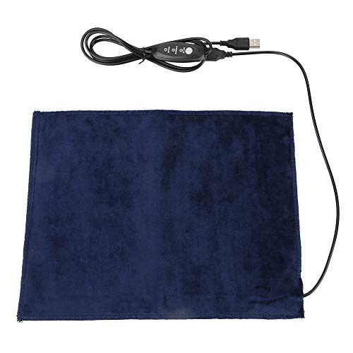 Heating Pad 5V 2A USB Electric Heater Pad Heating Element for Neck Shoulder Clothes Seat Pet Warmer, 24x30cm 45℃