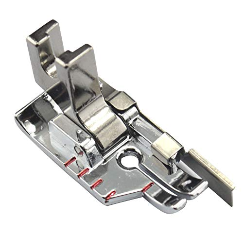 DREAMSTITCH P60615 Low Shank 1/4 inch Presser Foot with Guide for Brother,Janome (Newhome),Singer,Babylock,Bernina,Bernette,Elna,Kenmore (Sears),Pfaff,Simplicity,Viking All Low Shank Sewing Machine
