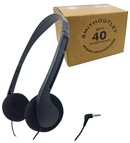 SmithOutlet 40 Pack Low Cost Classroom/Library Headphones