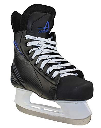 American Ice Force 2.0 Hockey Skate, 8, Black