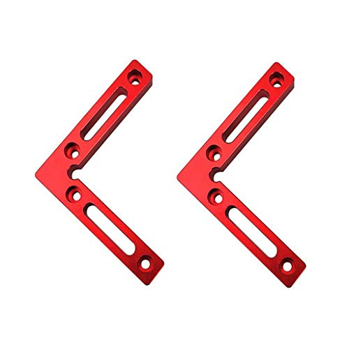 90 Degree 4.7' x 4.7' Positioning Squares (Pack of 2 Pieces), Aluminium Alloy Corner Clamping Square, Right Angle Clamps Woodworking Carpenter Tool