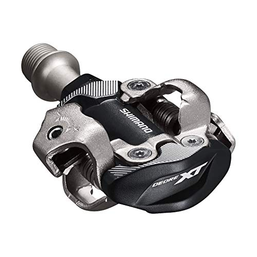 SHIMANO DEORE XT PD-M8100 SPD Pedal, Without Reflector, Includes Cleat, Black, One Size