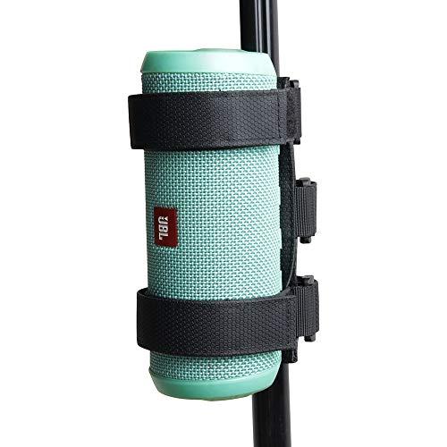 Hermitshell Bluetooth Speaker Mount for Golf Cart Accessories Railing Bike - Adjustable Strap for JBL FLIP/OontZ Angle/Anker/Doss/AOMAIS/Sony XB 22,31/Bose Most Speaker (S)
