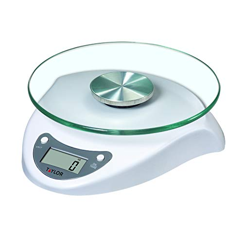 Taylor Precision Products 3831WH Digital Glass-Top Kitchen Scale, One Size, white