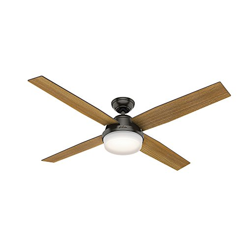 Hunter Dempsey Indoor Ceiling Fan with LED Light and Remote Control, 60', Noble Bronze