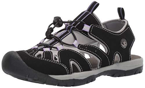 Northside Women's Burke II Sandal,Black/Lilac,8 M US
