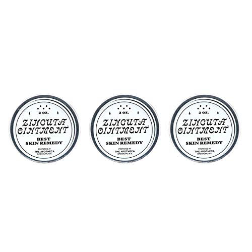 Zincuta Skin Ointment for Psoriasis, Eczema, Dry Skin, Chapped Lips, Poison Ivy Blisters, Burn Injuries, and Many More Skin Ailments (2 Oz Tin) Pack of 3