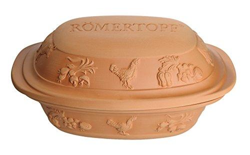 Römertopf Rustico Series, Glazed Clay Cooker, 4.1 quart, Tan