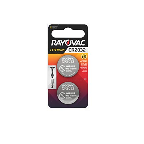 Rayovac CR2032 Battery, 3V Lithium Coin Cell CR2032 Batteries (2 Battery Count)
