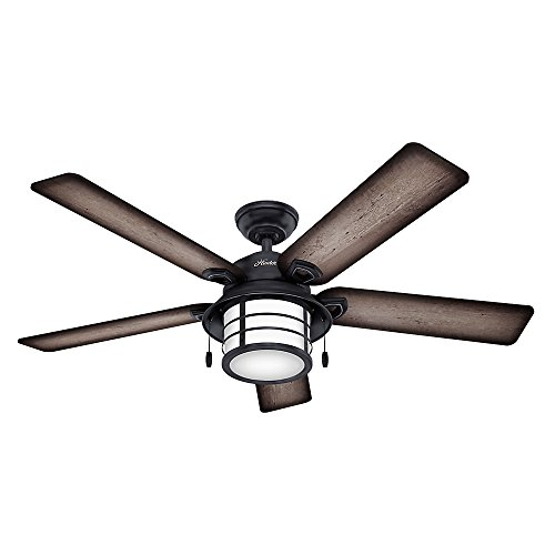 Hunter Fan Company Hunter 59135 Nautical 54' Ceiling Fan from Key Biscayne Collection in Bronze/Dark Finish, Weathered Zinc