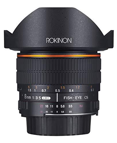 Rokinon FE8M-N 8mm F3.5 Fisheye Fixed Lens for Nikon (Black)