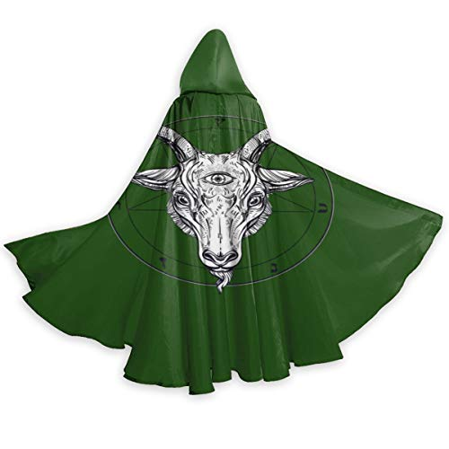Satanic Ritual Pagan Goat Yule Wicca Wiccan Halloween Wizard Witch Hooded Robe Cloak Christmas Hoodies Cape Cosplay For Adult Men Women Party Favors Supplies Dresses Clothes Gifts Costume