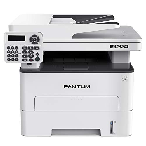 Pantum M6802FDW Wireless Monochrome Laser Printer Scanner Copier Fax All in One, Wireless Networking and Duplex Printing for Home and Office Use (V1X47B)