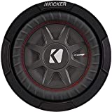 Kicker 8 Inch Dual 600 Watt CompRT 2 Ohm Shallow Slim Car Subwoofer | 43CWRT82