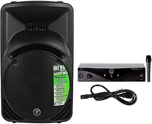 Mackie SRM450V3 SRM450-V3 1000w 12' Powered PA Speaker w/DSP+AKG Wireless Mic