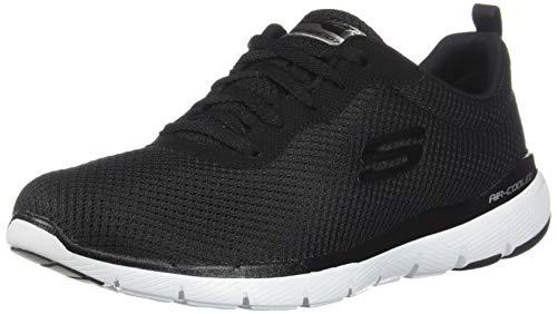 Skechers Women's Flex Appeal 3.0-First Insight Sneaker, BKW, 10 M US