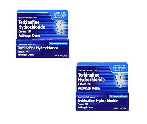 Terbinafine Hydrochloride AntiFungal Cream 1% (1 oz.) (2 Pack)