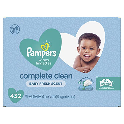 Pampers Baby Wipes Complete Clean Scented 6X Pop-Top Packs, 432 Count