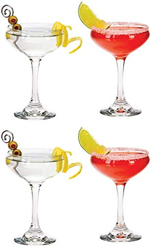 Libbey Modern Bar 8.5 Ounce Cocktail Coupe Drinkware, Mixed Drink Glasses, Set of 4
