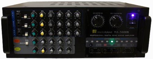 Hisonic Dual Channel MA-3800K Karaoke Mixing Amplifier, 760W
