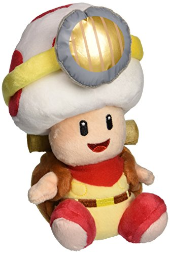 Little Buddy Super Mario Bros. 6.5' Captain Toad Sitting Pose Stuffed Plush
