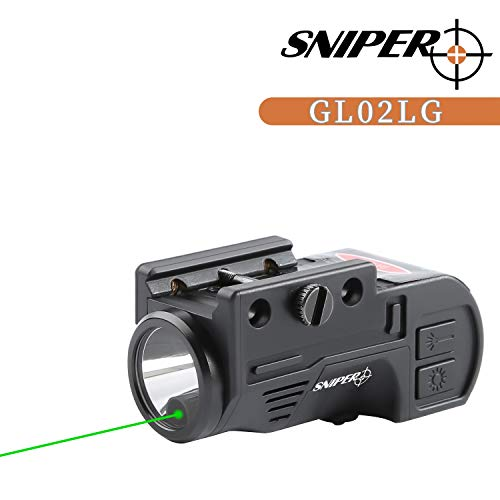 TPO GL02 Combo Flashlight and Green Laser Magnetic Charging Internal Green Laser Sight & Flashlight Laser Combo with Rechargeable Battery