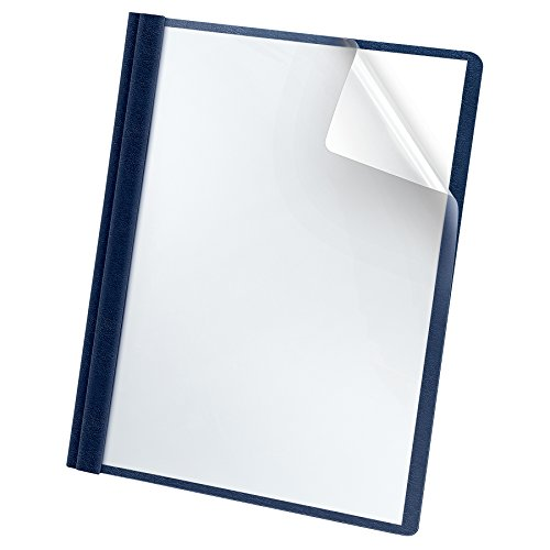 Oxford Premium Clear Front Report Cover, Letter Size, Dark Blue, 25 per box (58802EE)