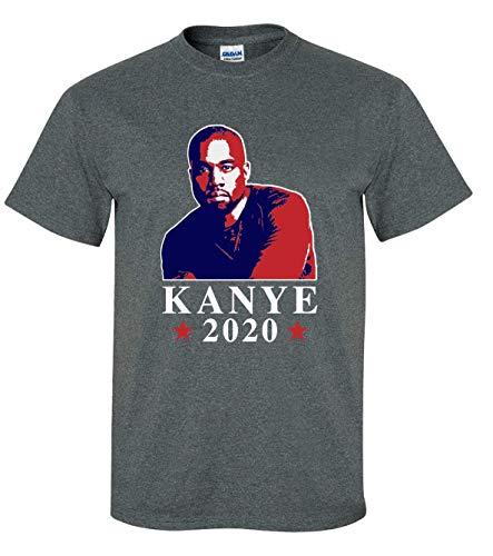 Political Kanye West Photo 2020 Kanye for President Short Sleeve T-Shirt-Heather Grey-Small