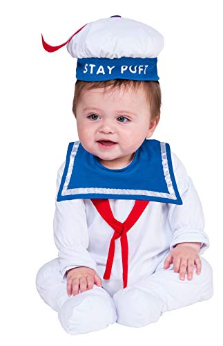Rubie's Baby Ghostbusters Classic Stay Puft Costume Romper, As Shown, 6-12