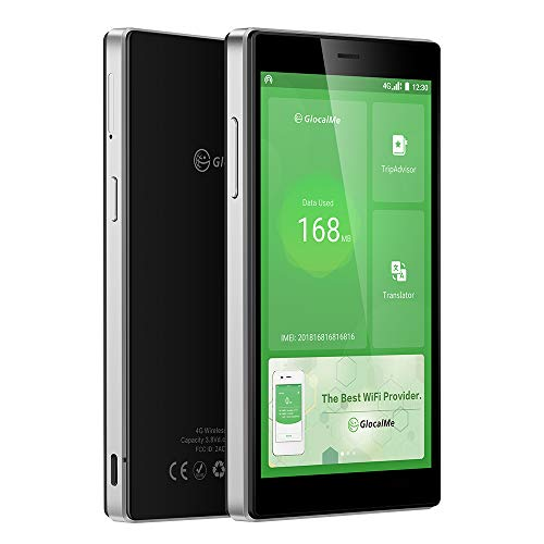 GlocalMe G4 Pro 4G LTE Mobile Hotspot, Worldwide WiFi Portable High Speed WiFi Hotspot with US 8GB & Global 1GB Data, SIMFREE, Pocket MIFI(Black)