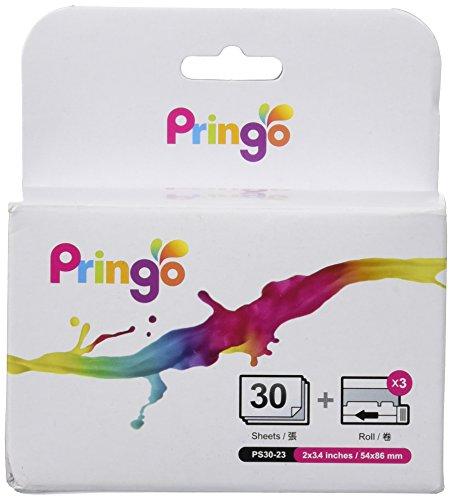 HiTi Pringo P231 Pocket Printer Photo Paper and Ribbon 30 Prints Pack