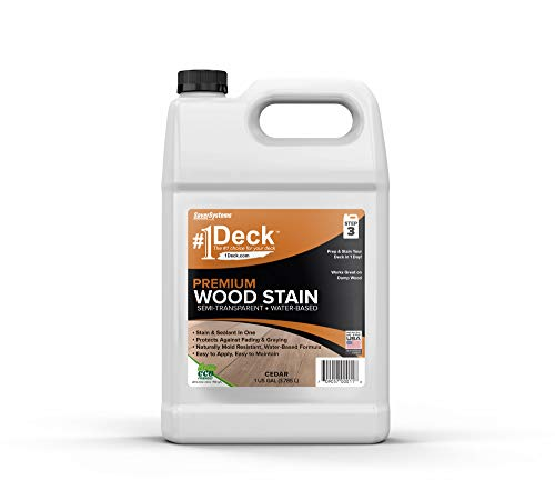 #1 Deck Premium Semi-Transparent Wood Stain for Decks, Fences, & Siding - 1 Gallon (Cedar)