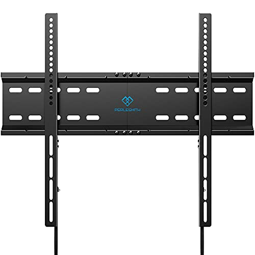 PERLESMITH Fixed TV Wall Mount Bracket for 32-70 Inch LED LCD OLED 4K Curved Flat Screen Slim TVs-Low Profile TV Mount for 16-24 Inch Studs with VESA 600x400mm up to 110 lbs PSLT6