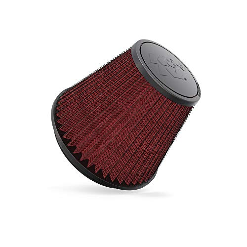 K&N Universal Clamp-On Air Filter: High Performance, Premium, Washable, Replacement Filter: Flange Diameter: 6 In, Filter Height: 6 In, Flange Length: 0.625 In, Shape: Round Tapered, RF-1048