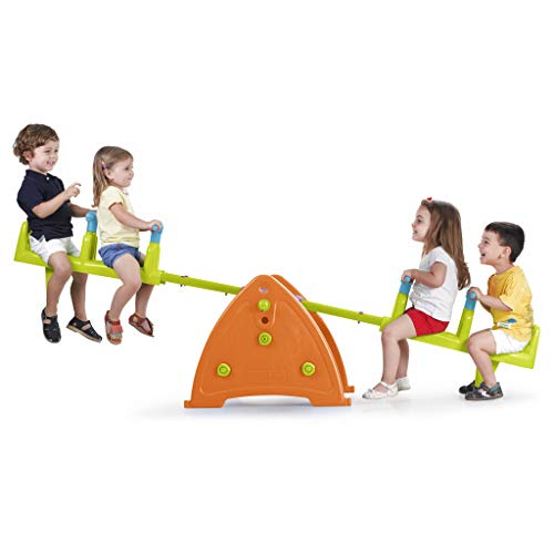 ECR4Kids Quad Seesaw Teeter-Totter for 4 Kids - Sturdy and Durable for Home, Daycare or Preschool Use