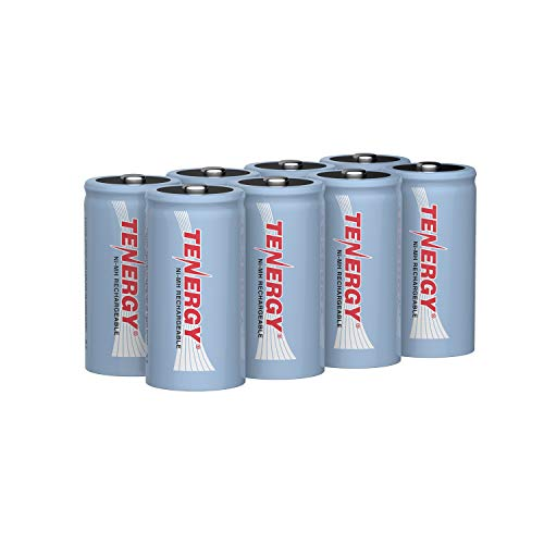 Tenergy C Size Battery 1.2V 5000mAh High Capacity NiMH Rechargeable Battery for LED Flashlights Kids Toy and More (8 pcs)