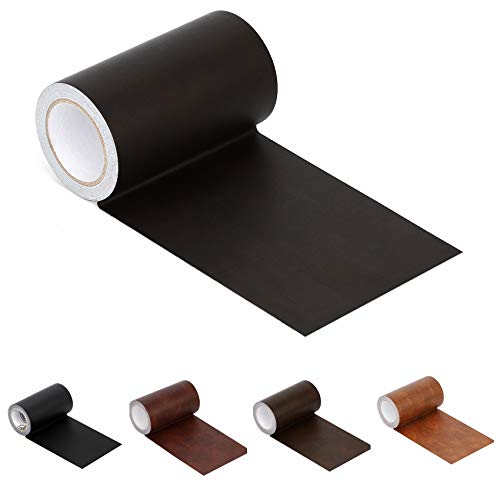 Leather Repair Tape Patch Leather Adhesive for Sofas, Car Seats, Handbags, Jackets,First Aid Patch 2.4'X15' (Dark Brown Leather)