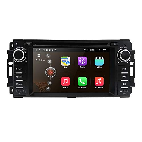 Android 10 Car Stereo CD DVD Player 2G+16G in Dash Car Radio AM/FM Multimedia Player Navigation System with 6.2' LCD Bluetooth WiFi GPS for Jeep Wrangler Dodge Chrysler