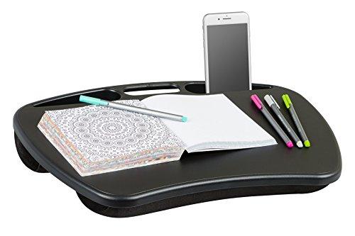 LapGear MyDesk Lap Desk - Black - Fits up to 15.6 Inch laptops - Style No. 45348