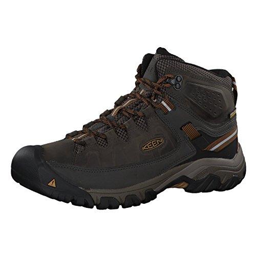 KEEN Men's Targhee 3 Mid Height Waterproof Hiking Boot, Black Olive/Golden Brown, 11 2E (Wide) US