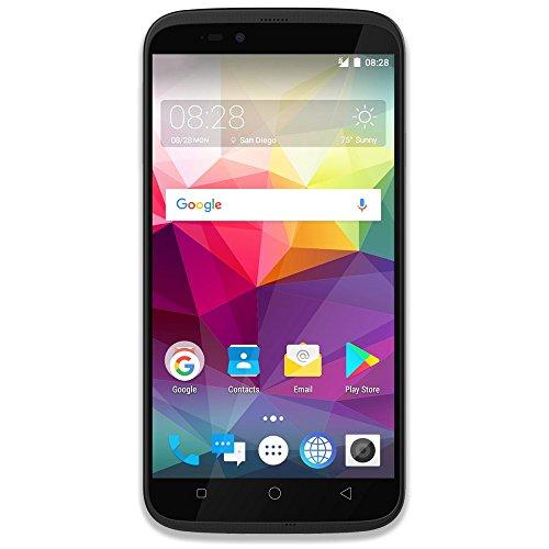 Coolpad Splatter unlocked smartphone with hands-free Amazon Alexa - 5.5' Screen - 2GB RAM/16GB ROM -Android 7.0- Black