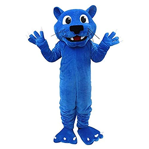 Blue Panther Mascot Costume Cartoon Character Cosplay Party Fancy Dress Adult Outfit (One Size