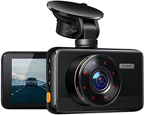 APEMAN Dash Cam with IR Night Vision, FHD 1080P Dash Camera for Cars, Sony IMX 307 Sensor, Support GPS, 3 inch IPS Screen, Easy Use, Loop Recording, G-Sensor, 170°Wide Angle, Parking Monitor, WDR