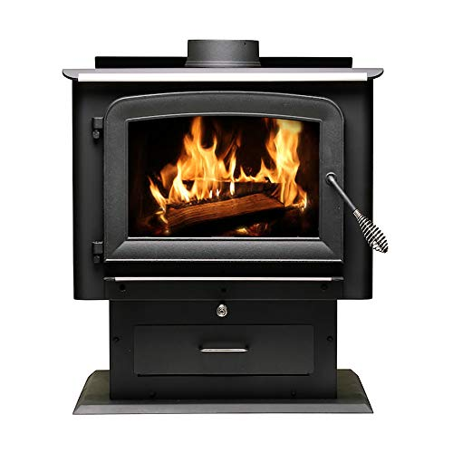 Ashley Hearth AW2520E-P 2,500 Sq. Ft. EPA Certified Pedestal Wood Burning Stove, Black