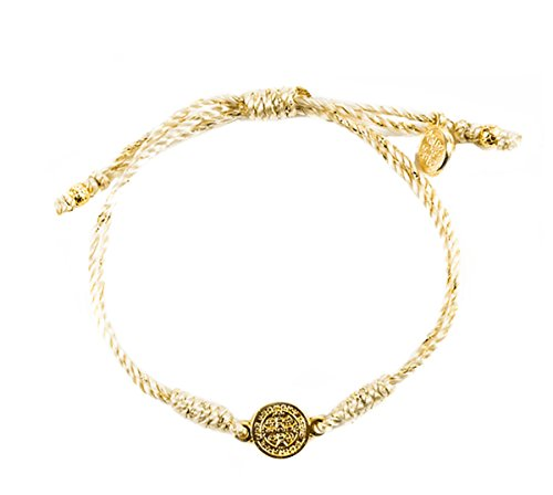 Inspirational Breathe Bracelet, Adjustable (Gold Tone on Metallic Gold)