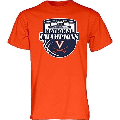 Elite Fan Shop Virginia Cavaliers National Basketball Champions Tshirt 2019 Official Logo Orange - XX-Large