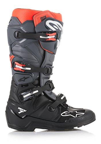 Alpinestars Unisex-Adult Tech 7 Enduro Boots Black/Grey/Red Sz 10 (Multi, one_Size)