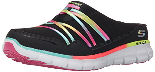 Skechers Sport Women's Air Streamer Fashion Sneaker,Black/Multi,7.5 M US